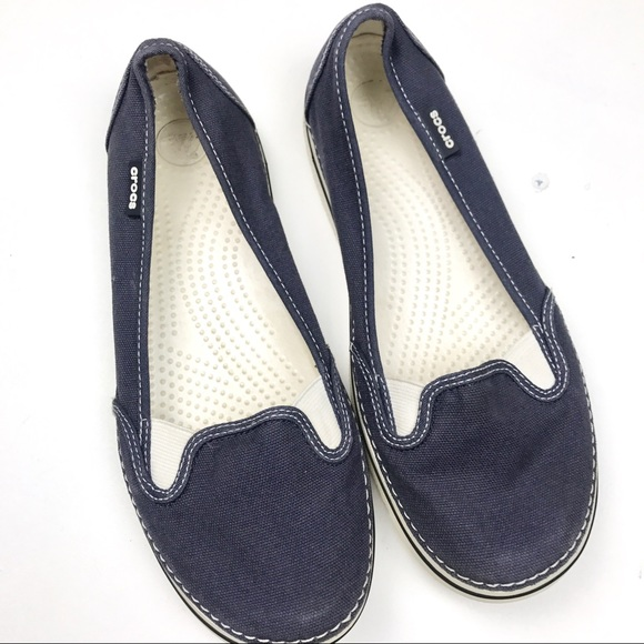 7079aa8ecfce8 CROCS Shoes - Crocs women s Hover Slip-on canvas Navy ...